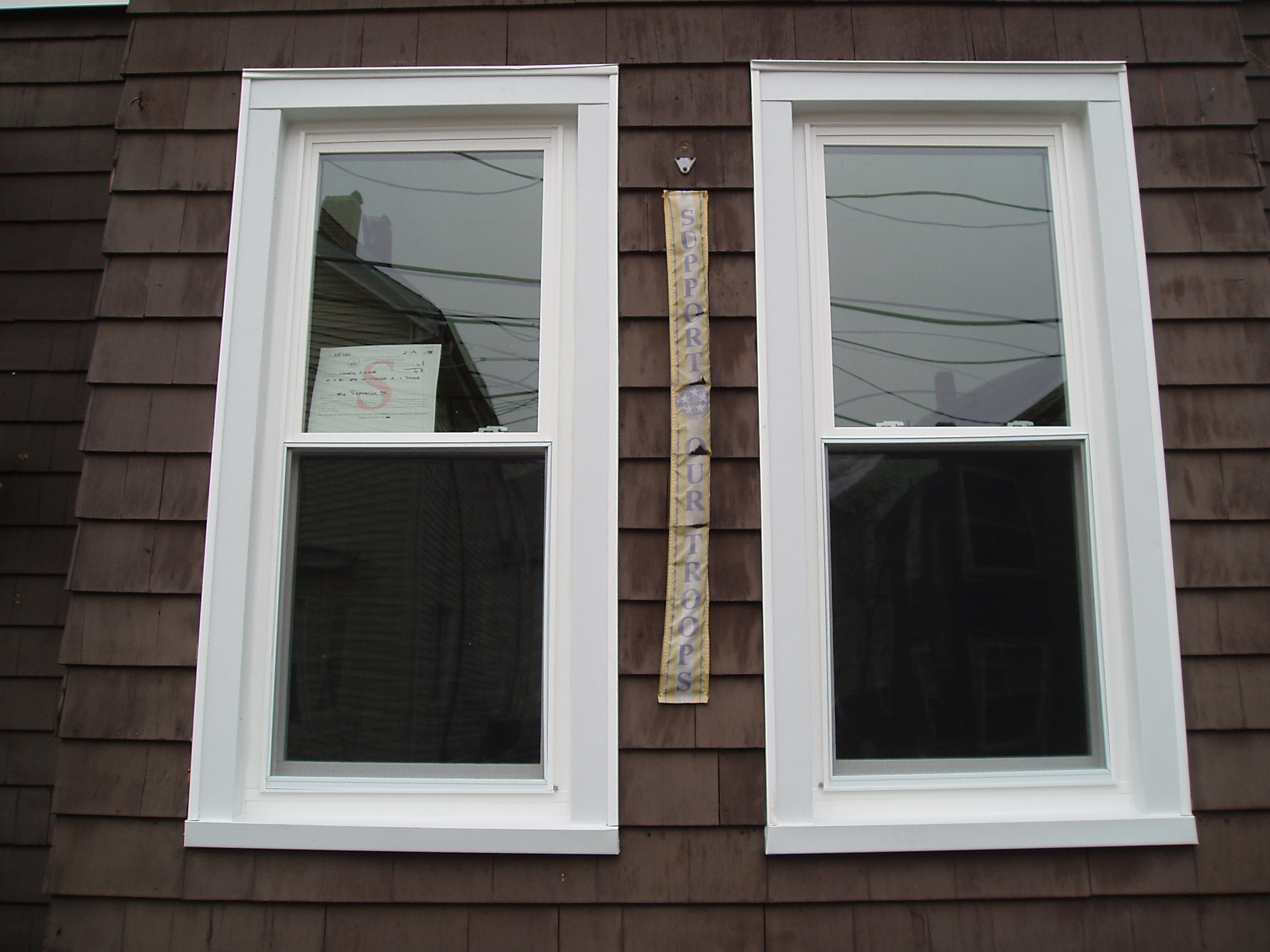 Exterior window trim - Before After